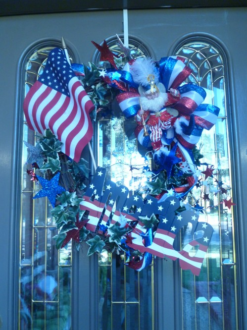 July 4th, Wreath, Show Me Decorating, Mark Roberts
