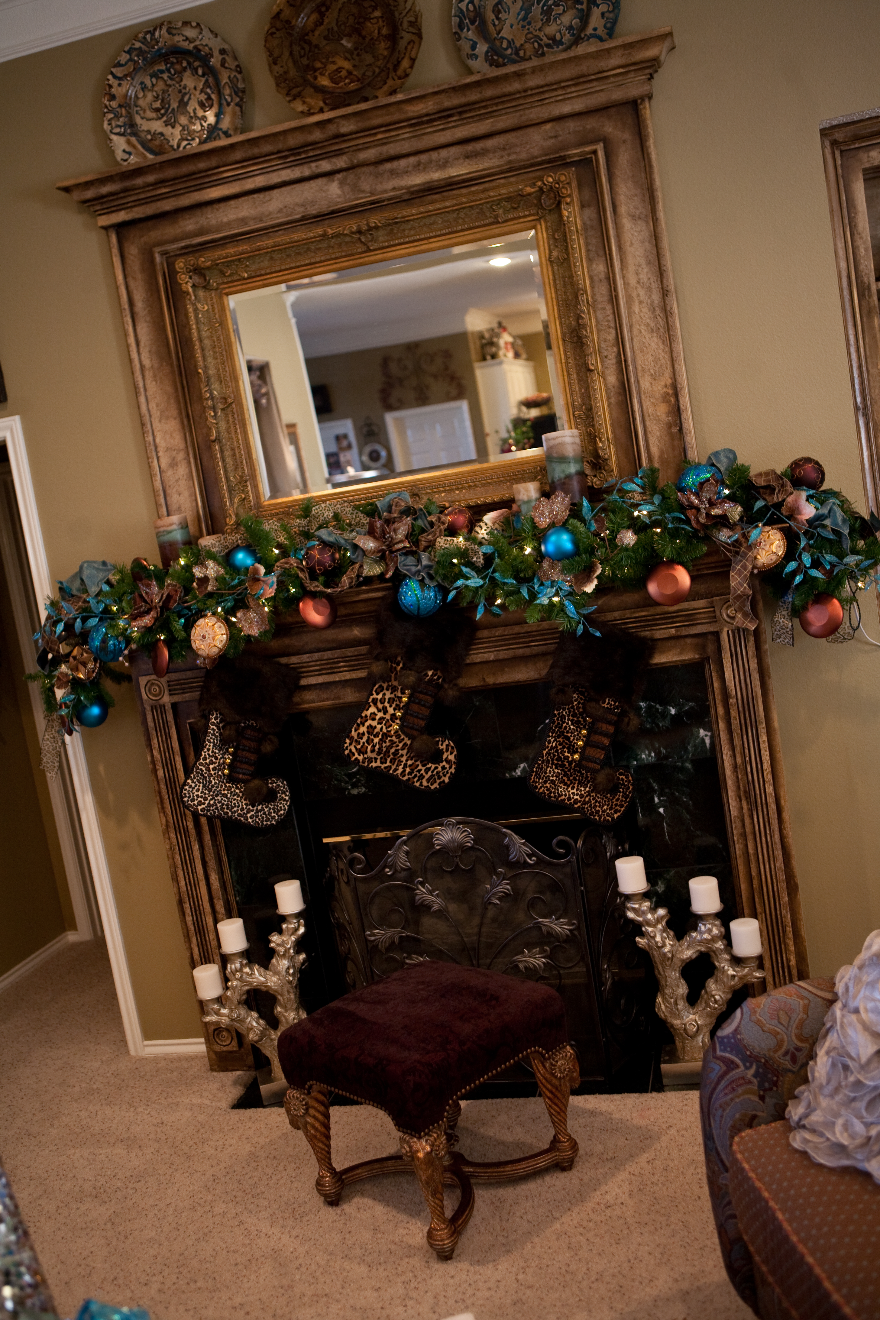 Show Me A Mantel Many Merry Ways Show Me Decorating