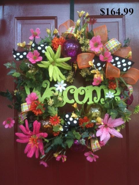 Spring, Wreath, floral, Ribbon,