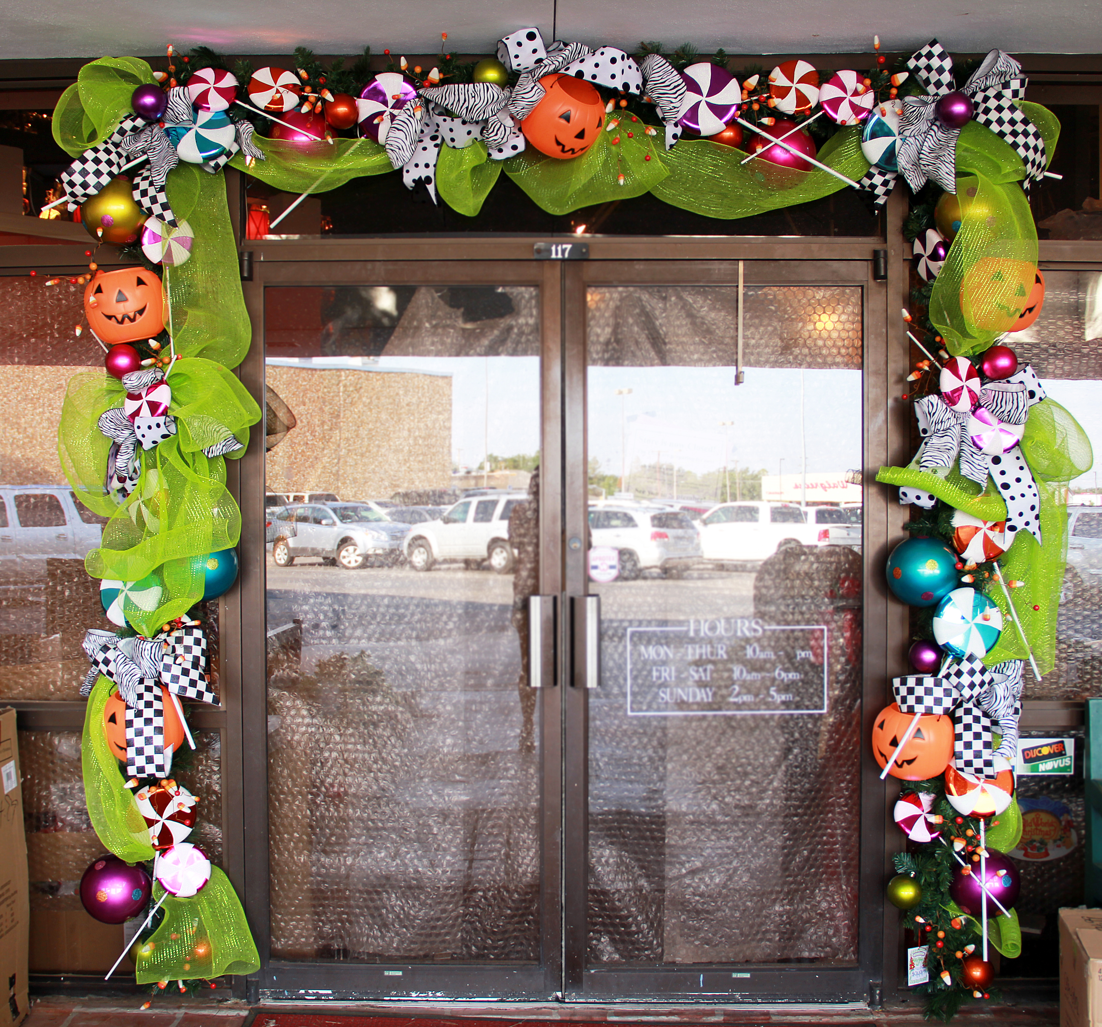 Decorated Halloween House: Miss Cayce's Christmas Store