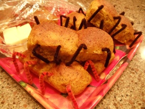 """""""Bug Bread"""" will tickle your throat with the creepy crawley legs!"""