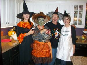 Halloween witches are great friends!