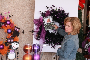 A cute frame could be used as a focal point, simply add pictures of your favorite monsters and wire onto wreath!