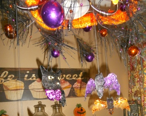 Lightweight ornaments that hang from a spring work great when attached to the garland