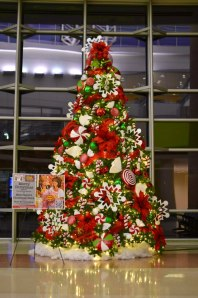 #Peppermint Twist #Christmas is sweet to the weary traveler this #Holiday Season, at #Midland #International #Airport