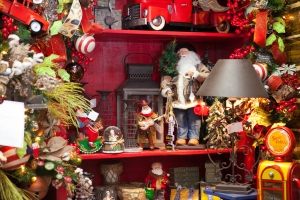 A Western Santa rides the West Texas plains in this Texas inspired Display