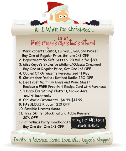 12 Days of Gift Ideas .....for yourself or someone else