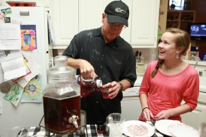My husband Mark and daughter Rebecca, were great helpers for the celebration!