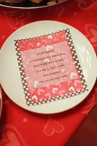 Handmade and hand delivered! Using Valentine inspired scrap book paper and glue stick!