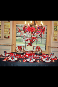 Valentine Table set