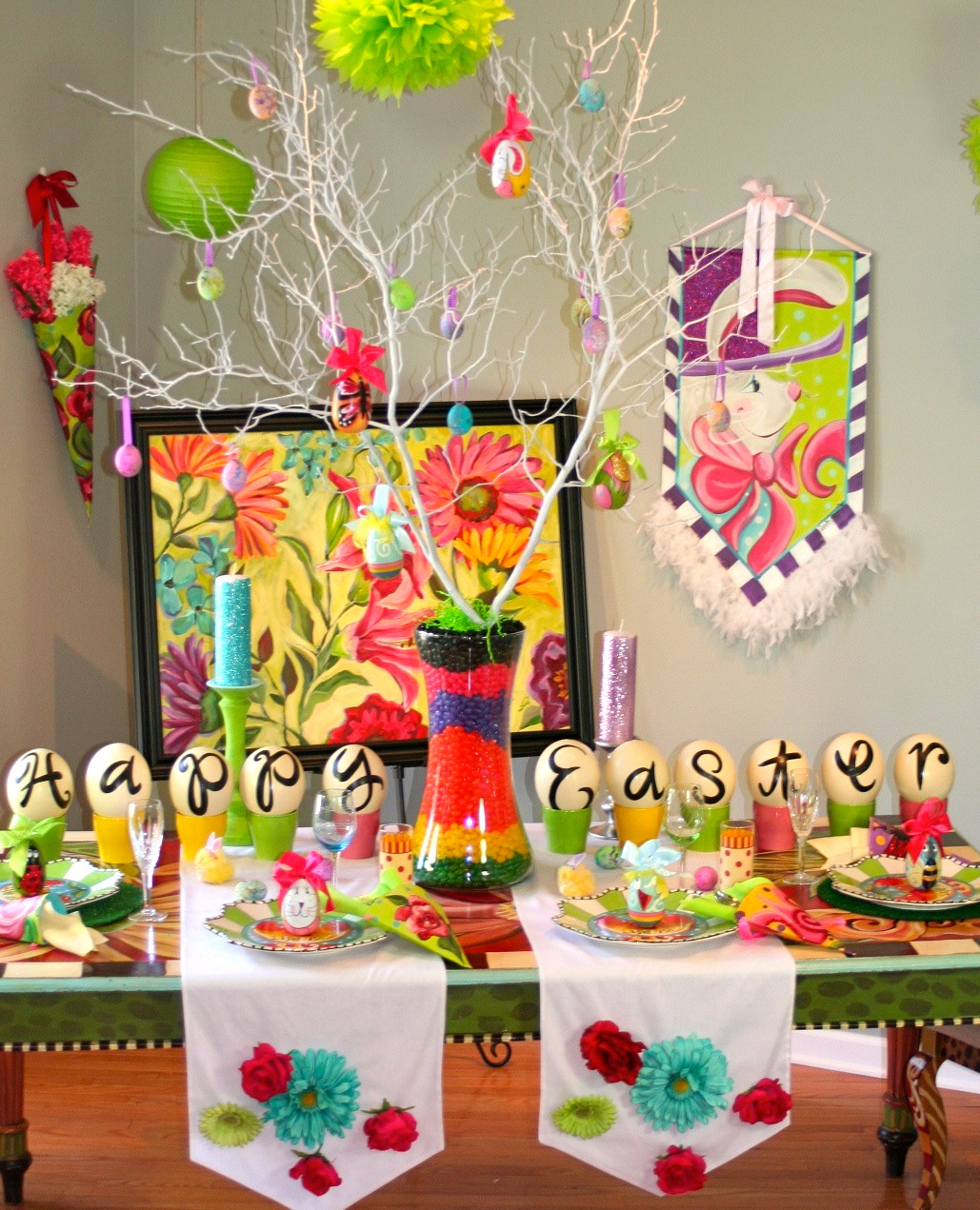 Lisa frost diy table for easter her working studio is located in her