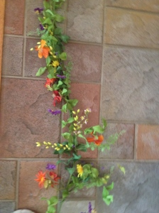 Bright Multi Flower garland 5'
