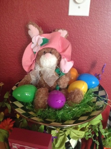 Rebecca's favorite Easter bunny nestled in MacKenzie-Childs compote