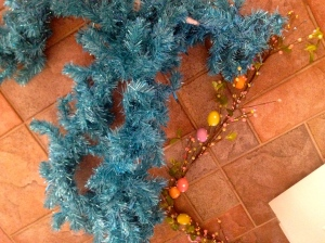 Hand wrapped and wired Easter Egg garland