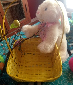 Bunny and basket secure