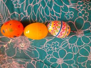 Step 2 Thread on more eggs