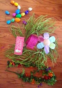 Key ingredients, wreath, ribbon, focal points