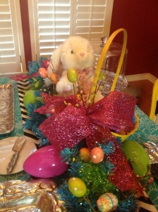 A collection of Bunny Author Court (given to all the Grand daughters by the original Miss Cayce's) is ready for an Easter party!