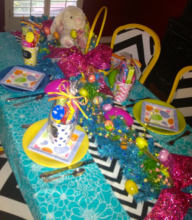 This bright and cheery table scape celebrates Easter, the Season of Hope!