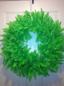 lit lime green wreath vickermand