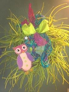 SpringWreath w: owl