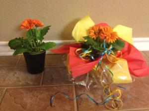 floral, daisy's, Fiesta, tablescape, DIY, centerpiece