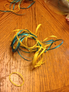 Curly Ribbon, Bow, Fiesta, Centerpiece, DIY, Tablescape