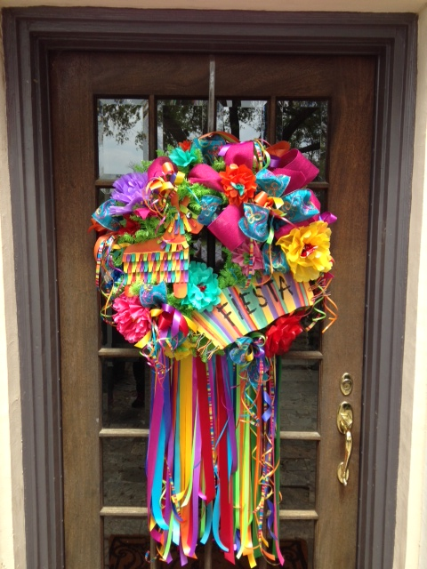 Fiesta, Wreath, Ribbon, Floral,