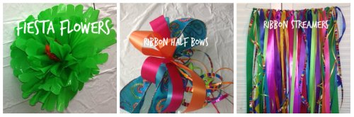 Ribbon, Floral, Streamers, Spring, Fiesta