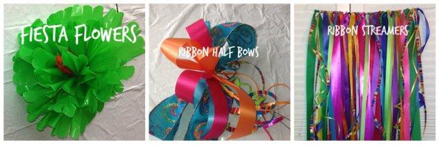 Ribbon, Floral, Streamers, Spring, Fiesta