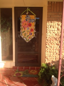 Lisa Frost  Flowers and Butterfly banner was our inspiration