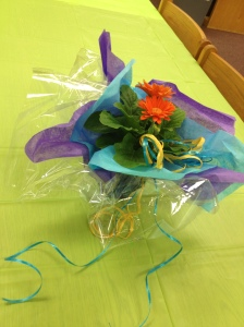 Centerpiece, Fiesta, DIY, Tablescape, Daisy, Flowers