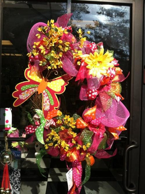 reliant ribbon spring wreath