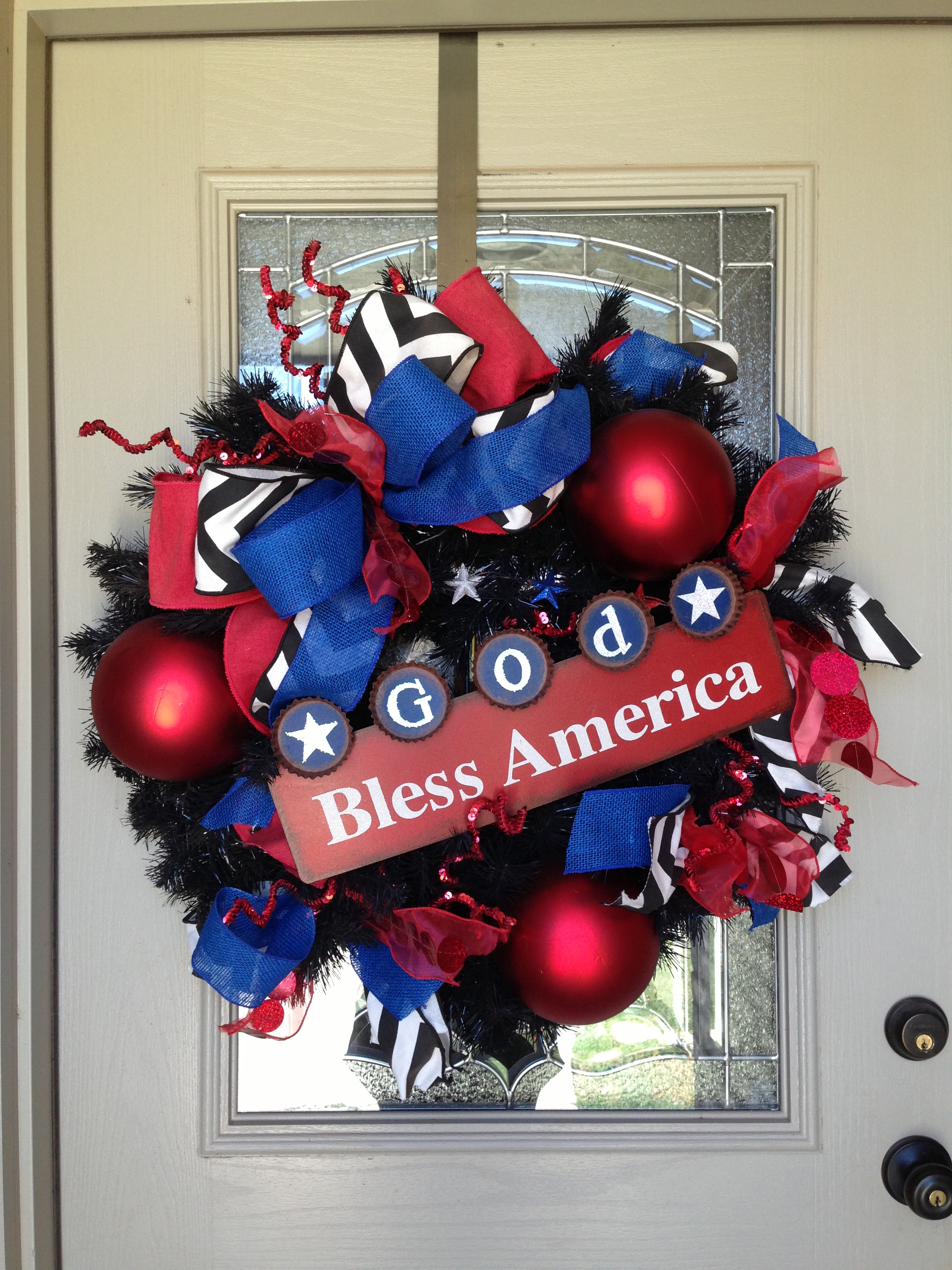 Americana christmas ornaments - July 4th Americana Show Me Decoraitng