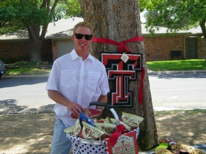 The Graduating senior and his new college Texas Tech!