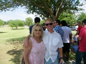 Coby and mom Eva (one of Miss Cayce's fabulous designe)rs!