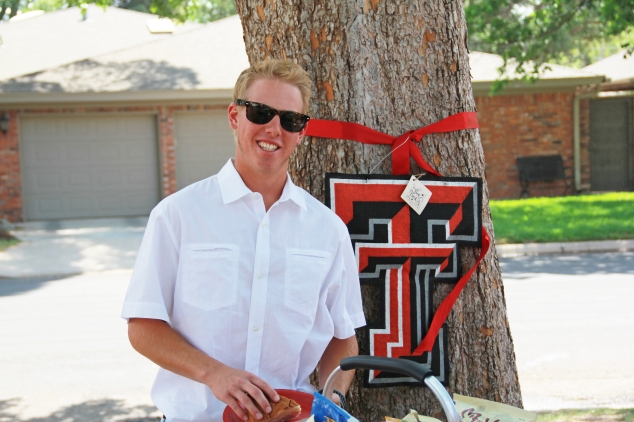 The honoree, Coby, who is now a Tech Red Raider!