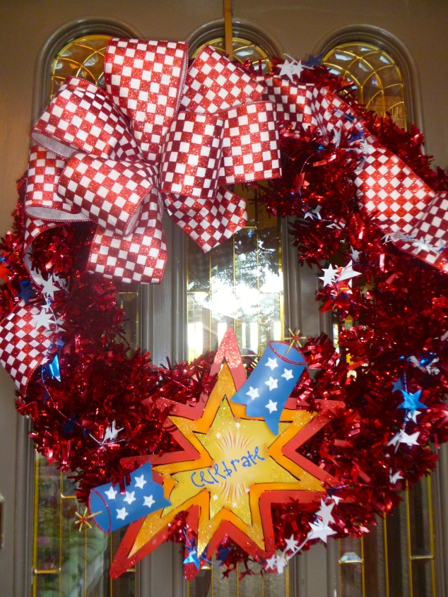 July 4th, Show Me Decorating, The Round Top Collection, Wreath