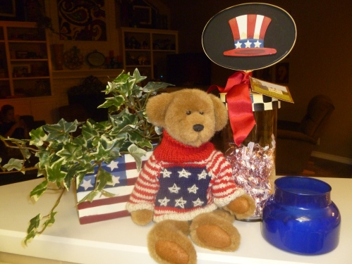 July 4th Decor, American Flag, Tabletop, the Round Top Collection
