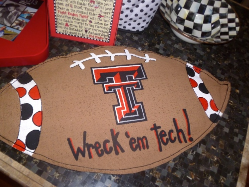 Wreck'em tech!  Glory Haus large football Burlee