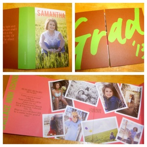 This is a great fold out card with a picture collage