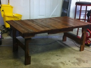 Finished pallet patio table!