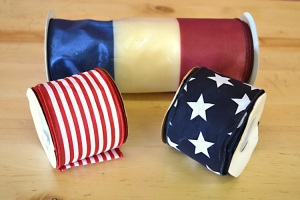 Wired ribbon to compliment patriotic theme
