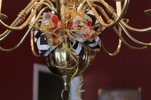Carry your theme up to the Chandelier.