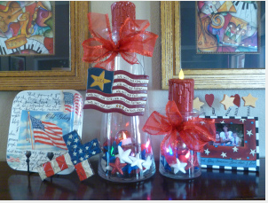 July 4th, Flag, Stars, Show Me Decorating