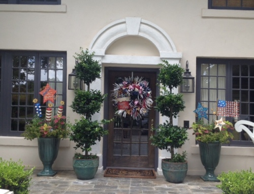 July 4th, Red, White, Blue, Americana, Wreath, Front Door decor