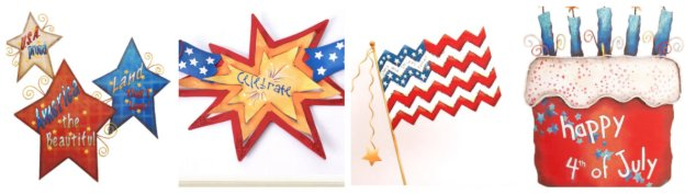 July 4th, The Round Top Collection, Fireworks,Show Me Decorating