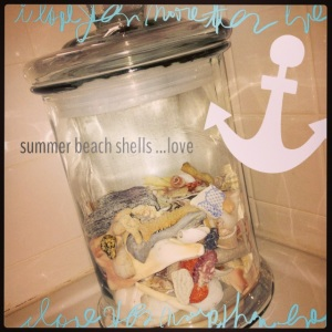 Seashells Show off in a Glass Jar