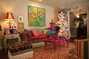 Christmas Decorations, Hot Pink Christmas, White Tree, Turquoise