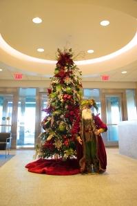Christmas Trees, Christmas Decorations, Santa, Red and Gold Christmas